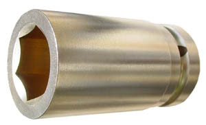 "1"" Drive 2 1/2"" (6 Point) Deep Impact Socket"