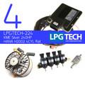 Autogas Conversion Kit with LPGTECH ECU Controller, KME Silver LPG Regulator and HANA Injectors