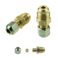 Male JIC connector to 8mm Copper Pipe Adapter