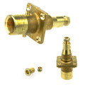 uk bayonet autogas lpg filling point to 8mm brass pipe with olive and w21 female thread straight