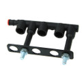 Prins keihin KN8 3 cylinders injectors rail housing plastic