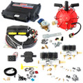 ac stag 6 cylinder autogas conversion kit qmax plus obd with 250hp reducer 6 injectors