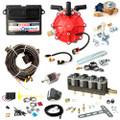 ac stag qbox plus obd 4 cylinders ecu lpg controller with r01 250hp reducer and w02 bf injectors autogas lpg conversion kit