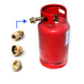 LPG Propane Gas Bottle Motorhome Campervan Caravan 27liters all Europe adapters with gauge