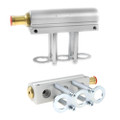 3 cylinder distribution rail for rail type hana 2001 injectors aluminium