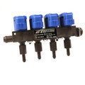 Tomasetto IRAT1004 LPG CNG Rail Injector IT01 4Cyl Propane Autogas