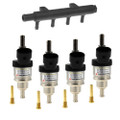 hana 2001 gold 4 cylinders single injector set with distribution unit autogas lpg cng