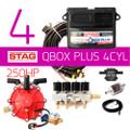 AC STAG 4Cylinder QBox Plus OBD 250HP BFC ECU Controller Kit Autogas LPG CNG wiring loom