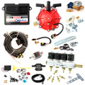 ac stag qbox plus obd 4 cylinders ecu lpg controller with r01 250hp reducer and w01 bf injectors autogas lpg conversion kit