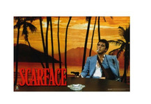 Scarface Sunset Blockmount Wall Hanger