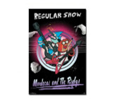 Regular Show Mordecai and The Rigbys Blockmount Wall Hanger