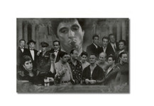 Gangsters Collage Godfather Goodfellas Scarface Sopranos Blockmount Wall Hanger