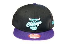 Chicago Bulls Grape Purple Blue Logo Custom New Era Snapback Hat