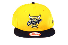 Chicago Bulls Custom Yellow Logo New Era Snapback Hat