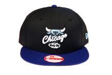 Chicago Bulls Blue Logo Custom New Era Snapback