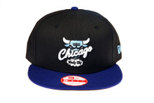 Chicago Bulls Blue Logo Custom New Era Snapback