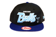 Chicago Bulls Blue Script Custom New Era Snapback