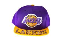 Los Angeles Lakers Mitchell & Ness Visor Hit Snapback