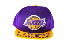 Los Angeles Lakers Mitchell & Ness Visor Hit Snapback