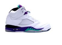 Air Jordan V (5) White Grape Retro Shoes