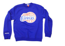 Los Angeles Clippers Mitchell & Ness Blue Crewneck