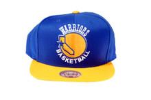 Golden State Warriors XL Logo Mitchell & Ness Snapback Hat