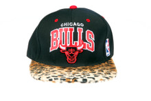 Chicago Bulls Arch Furry Cheetah Mitchell & Ness Custom Brim Strapback