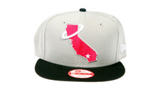 California Republic Grey / Pink State Logo New Era Snapback