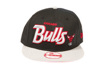 Chicago Bulls Grey Script Bred Colorway Custom New Era Snapback
