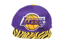 Los Angeles Lakers XL Logo Yellow Zebra Custom Brim Strapback