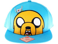 Jake and Finn I'm Weird Adventure Time Blue Snapback Hat