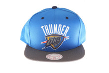 OKC Thunder 3M Reflective Underbrim and Logo Mitchell & Ness Blue Snapback Hat