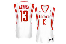 James Harden Houston Rockets White Adidas Swingman Jersey