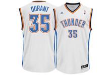 Kevin Durant Oaklahoma City Thunder White Adidas Swingman Jersey