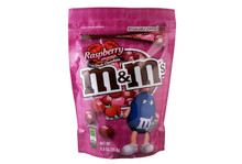 M&M's Dark Chocolate Raspberry - 8.0 oz Resealable Zipper Pack !