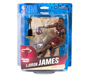 LeBron James Miami Heat Red Jersey NBA Basketball McFarlane Toys 6-Inch Action Figure