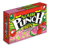 Sour Punch Bits Strawberry-Watermelon - 3.5oz Theatre Box !