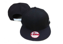 Black Blank / Plain New Era Snapback Cap
