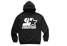 Starter White Logo on Black Hoodie