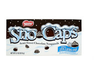 Sno Caps Semi-Sweet Chocolate Non-Parelis - 3.1oz Theatre Box !