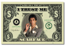 Scarface Tony Montana Money Blockmount Wall Hanger