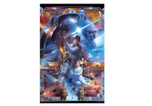 Star Wars Saga Collage Blockmount Wall Hanger