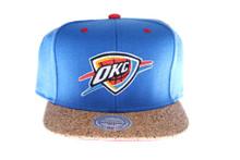 OKC Thunder Cork Brim Mitchell & Ness Snapback Hat