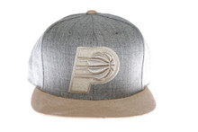 Indiana Pacers Heather Suede Mitchell & Ness Strapback Hat