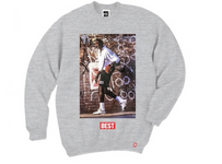 Breezy Excursion Old School Michael Jordan Crew Grey