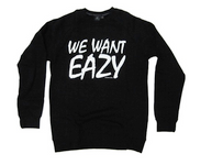 Starter White on Black 'We Want Eazy' Crew