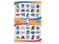 NBA Team Logos Blockmount Wall Hanger