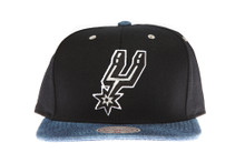 San Antonio Spurs Denim Brim Mitchell & Ness Snapback Hat