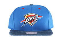 Oklahoma City Thunder Denim Brim Mitchell & Ness Snapback Hat