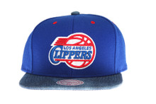 Los Angeles Clippers Denim Brim Mitchell & Ness Snapback Hat